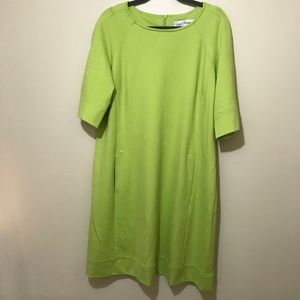 Sara Campbell Green Floaty Dress With Pockets - XL